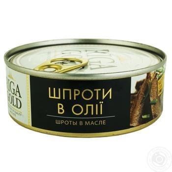 Шпроты Рижское Золото в масле 240г - купить, цены на Восторг - фото 1