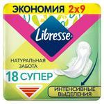 Libresse Natural care super hygienical pads 5 drops 18pcs - buy, prices for MegaMarket - image 1