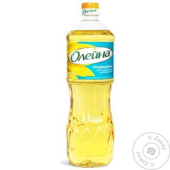 Олія соняшникова Олейна рафінована 850мл - купити, ціни на МегаМаркет - фото 1