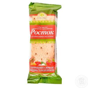 Хлібці УкрЕкоХліб Росток з пророщених зерен пшениці з солодким перцем і зеленню 120г - купити, ціни на Ашан - фото 2