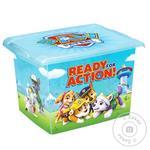 Ящик для хранения Keeeper пластиковый с крышкой 10л
