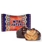 Turron Mar Jolly candy with dates, cranberries and peanuts in glaze weight
