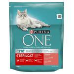 Корм сухой Purina ONE Sterilcat с лососем и пшеницей для стерилизованных котов 800г