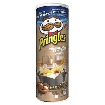 Чіпси Pringles зі смаком грибів та сметани 165г - купити, ціни на Ашан - фото 1