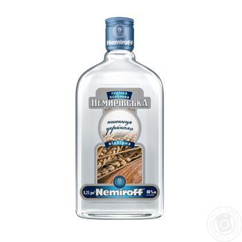 Nemiroff Nemirivska wheat ukrainian selected vodka 40% 0.25l - buy, prices for Novus - image 1