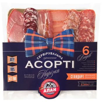 Alan Raw Smoked Serving Cutting Assorted 300g