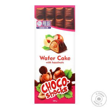 Торт Polus Choco-Shocks шоколадно-вафельный со вкусом фундука 220г