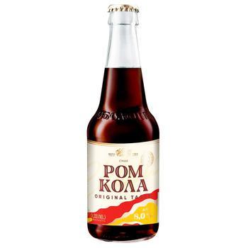 Напій Оболонь Ром Кола слабоалкогольний сильногазований 8% 0,33л - купити, ціни на CітіМаркет - фото 1