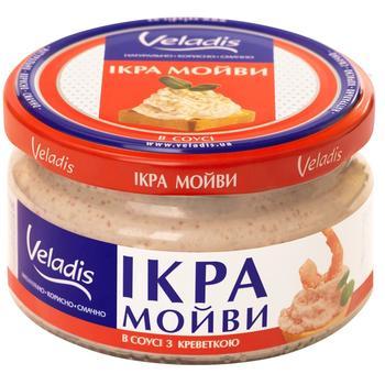 Ікра Мойви в соусі з креветкою Veladis 180г - купити, ціни на Ашан - фото 1