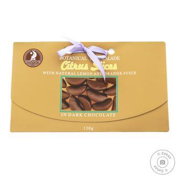 Мармелад Shoud`e Цитрусовые дольки в черном шоколаде 130г - купить, цены на Восторг - фото 1