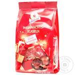 Конфеты Halloren Рождественские шарики из темного шоколада с шоколадной начинкой 104г
