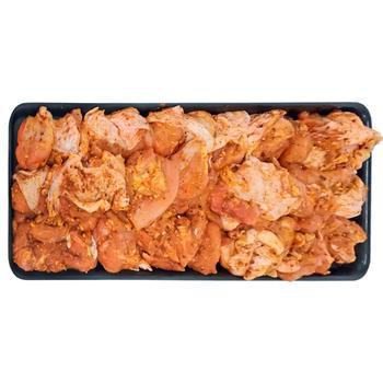 Шашлык куриный из мяса бедра в маринаде Томат и базилик охлажденный