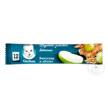 Gerber With Grapes And Apple For Children From 12 Months Fruit And Cereal Bar 25g