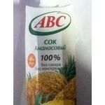 Reconstituted unclarified sugar-free juice ABC pineapple tetra pak 1000ml Belarus