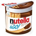 Паста Nutella ореховая с какао и хлебные палочки 52г