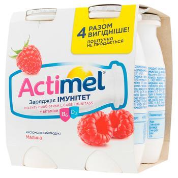 Продукт кисломолочный Danone Actimel Малина 4х100г