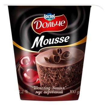 Мусс Дольче шоколад-вишня аэрированный 3,2% 100г - купить, цены на УльтраМаркет - фото 1