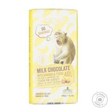Шоколад молочный Cachet с бананом и карамелью 40% 180г - купить, цены на Novus - фото 1