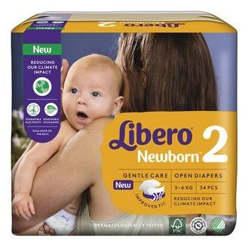Подгузники детские Libero Newborn 2 3-6кг 34шт - купить, цены на Восторг - фото 5