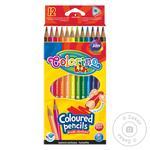 Карандаши цветные Colorino треугольные 12шт