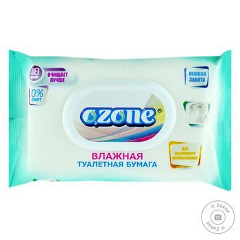 Вологий туалетний папір Ozone універсальний з клапаном 48шт - купити, ціни на Фуршет - фото 1