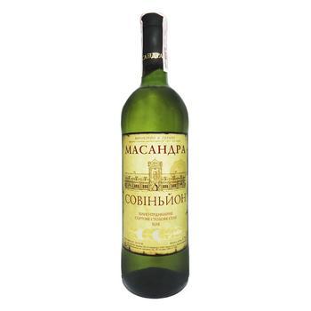 Вино Масандра Совиньон белое сухое 9.5-14% 0.75л