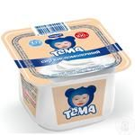 Cottage cheese Tema for 6+ months babies 5% 100g plastic cup Russia