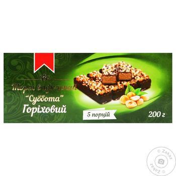 Торт Суббота шоколадно-вафельный ореховый 200г - купить, цены на Таврия В - фото 1