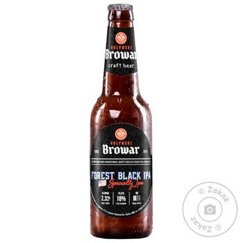 Пива Волынский Бровар Forest Black IPA темное нефильтрованное 7.3 % 0.35л