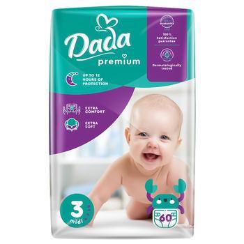 Подгузники Dada №3 для детей 4-9кг 60шт