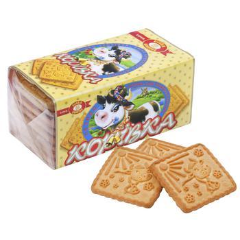 Печенье Бисквит-шоколад Коровка со вкусом топленого молока 180г - купить, цены на Таврия В - фото 1