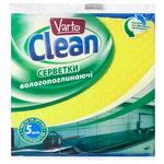 Серветки Varto Clean целлюлозні 5шт