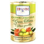 Оливки Helcom зеленые фаршированные лососем 280г