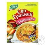 Суп Тётя Соня грибной с вермишелью 60г