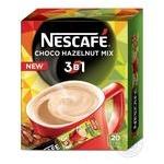 Напиток кофейный Nescafe 3в1 Choco Hazelnut Mix растворимый в стиках 20*13г