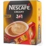 Coffee drink Nescafe 3in1 Creamy stick sachet 17.2g Ukraine