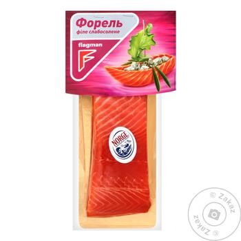 Flagman Lightly Salted Trout Fillet Piece with Skin 300g