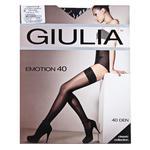 Giulia Emotion Nero Women's Stockings 40den 3/4s
