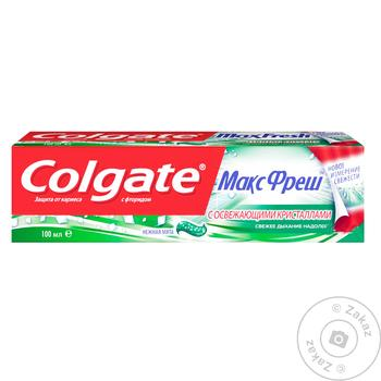 Colgate MaxFresh Gentle Mint Toothpaste 100ml - buy, prices for Furshet - image 3