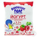 Йогурт Волошкове поле малиновый 3.2% 450г пленка Украина