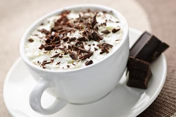 Гарячий білий шоколад