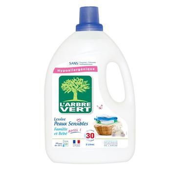 Средство жидкое для стирки Larbre Vert Чувствительная кожа 2л - купить, цены на Ашан - фото 4