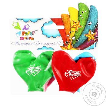Шарики воздушные Party House сердце с рисунком 4шт - купить, цены на Таврия В - фото 1