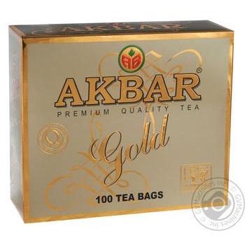 Чай Akbar Premium Quality Gold черный 100*2г