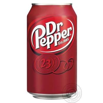 Напиток Dr Pepper газированный ж/б 0,33л - купить, цены на МегаМаркет - фото 1