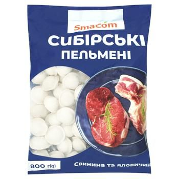 Пельмені SmaCom Сибірські 800г - купити, ціни на ЕКО Маркет - фото 1
