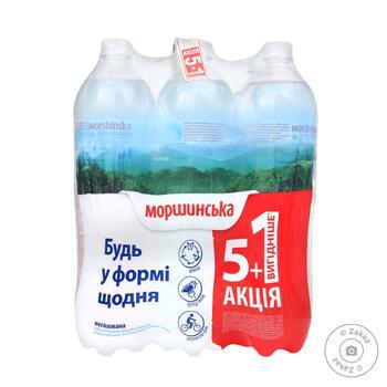 Вода Моршинська 1,5 л негазована Акція 5+1 вигідніше пет - купить, цены на Novus - фото 1