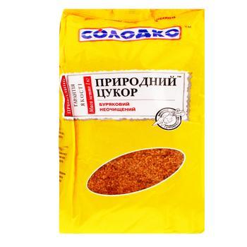 Сахар Солодко природный свекольный неочищенный 1кг - купить, цены на МегаМаркет - фото 1