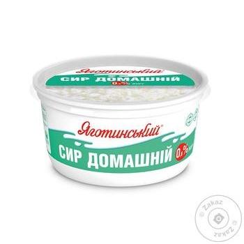 Сир кисломолочний Яготинський Домашній  нежирний 0,6% 370г - купити, ціни на Фуршет - фото 1