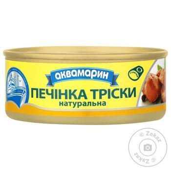 Печень трески Аквамарин Натуральная 100г - купить, цены на МегаМаркет - фото 1